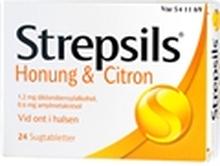 Strepsils (Läkemedel) 24 tabletter Citron / honung
