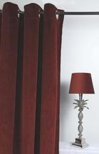 Velvet Gardinpar 240x140 cm - Bordeaux