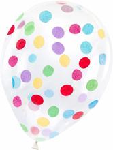 Ballonger med Konfetti i Regnbågens Färger (30 cm) 6-pack