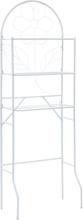 vidaXL Badrumshylla 60x33x174 cm vit