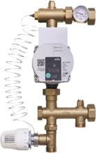 Roth golvvärmeshunt med 2-vägs ventil och termostatisk ventil samt Wilo Para 15-130/6 pump