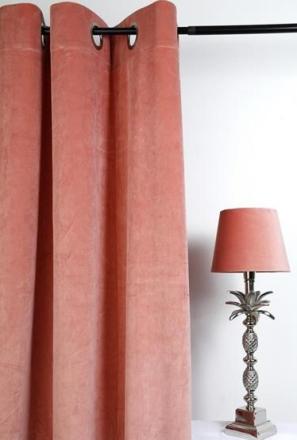 Velvet Gardinpar 240x140 cm - Dusty rose