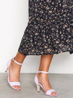 Bianco Low Basic Sandal Low Heel Lilac