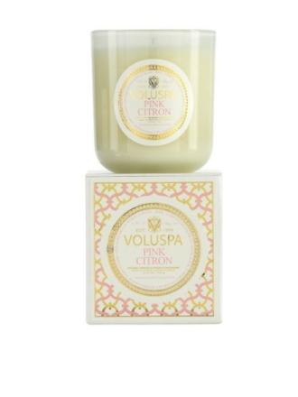 Voluspa Pink Citron Classic Maison Candle Hvit