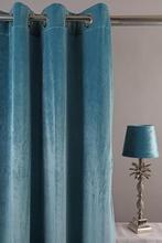 Velvet Gardinpar 240x140 cm - Turkose