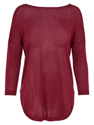 ONLY Detailed Knitted Pullover Women Red