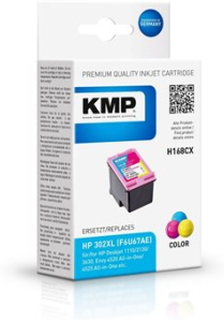 KMP H168CX, Pigmentbasert blekk, Cyan, Fiolblå, Gult, HP, HP DeskJet 1110 HP DeskJet 2100 Series HP DeskJet 2130 HP DeskJet 2132 HP DeskJet 2134 HP D