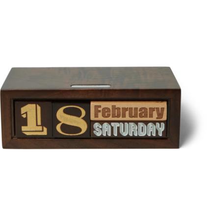 The Constant Wooden Calendar - Brown