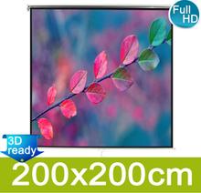 vidaXL Manuell prosjektorskjerm 200 x 200 cm matt hvit