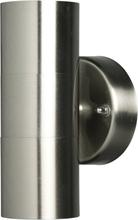 Luxform Trädgårdsbelysning Upp/Ner-lampa rostfritt stål Eden 230 V