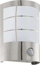EGLO Vägglampa för utomhusbruk med sensor Cerno 1 Vit 75237