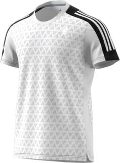ADIDAS Men's Adidas Own The Run Tee 3 Stripes Iteration Herre Kortermede treningstrøyer Hvit L