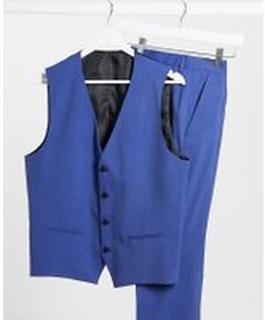 Selected Homme – Blå kostymväst med smal passform