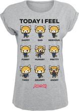 Aggretsuko - Today I Feel - T-shirt - gråmelerad