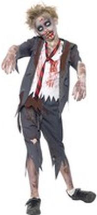 Zombie Skolpojke Maskeraddräkt Barn Medium