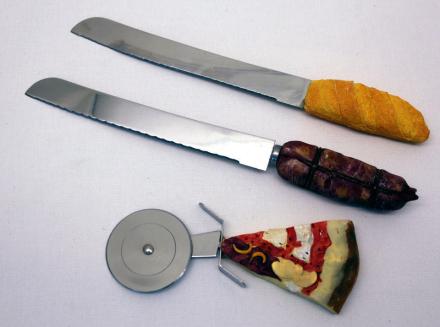 Pizzakniv - pizzaskärare i set om 3 8set