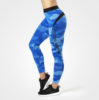 Better Bodies Fitness Curve Tights - Blue Camo