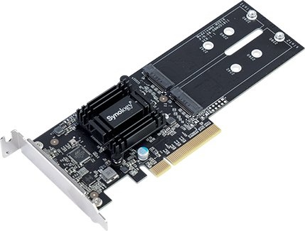 Synology M.2 SSD adapter med 2st M.2-platser M2D18