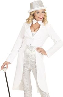 Hvit Tailcoat Kostymejakke til Dame
