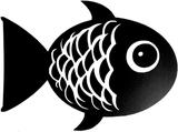 Väggdekor väggord väggtext fisk