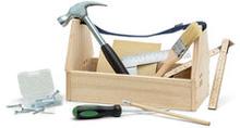 Snickarlåda med verktyg