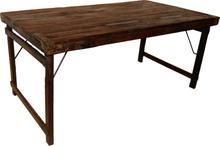 Ängelholm vikbart matbord 168-180 cm - Återvunnet trä/metall