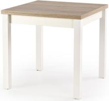 Yaritza utdragbart matbord 80-160 cm - Vit/Sonoma ek
