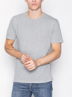 Selected Homme Shnlinen Mix Ss O-Neck Tee T-shirts & linnen Ljus Grå