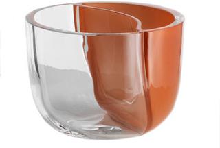 Kosta Boda Solid Klarglas/brun Unik Mattias Stenberg