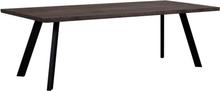 Fion matbord 240x100 - Mörkbrun/svart