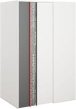 Jacklyn garderob - Vit/graphite - Vänstervänd