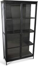 Industry vitrinskåp i metall - Metall / Glas
