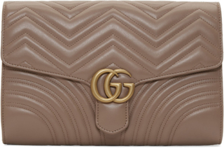 Gucci Pink Medium GG Marmont Clutch