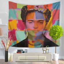Wandkunst hängende Blumen Frida Kahlo Wandteppich Frida Stoffdekoration Wandbehang Wandteppich