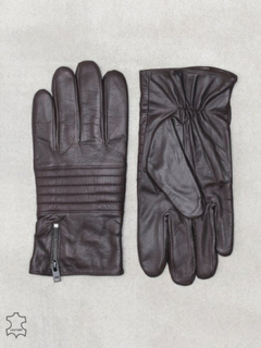 Selected Homme Slhnew Biker Leather Glove W Hansker og votter Brun