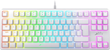 K4 RGB Mekaniskt Gamingtangentbord TKL WHITE EDITION [Kailh Red]