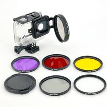 LINGLE 58mm linsfilter kit för GoPro Hero 5 Black