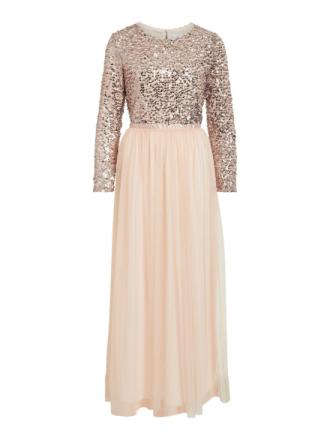 VILA Sequin Detailed Maxi Dress Women Pink
