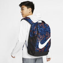 Nike Brasilia Kids' Printed Backpack - Blue
