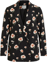 VILA Floral, Double-breasted Blazer Women Black