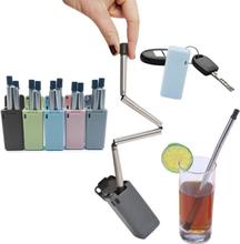 Metallsugrör - vikbar sugrör - fästs på nyckelknippa
