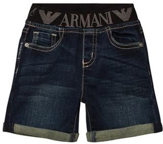 Emporio Armani Denim Shorts Mörkblå 9 months