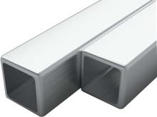 vidaXL Fyrkantsrör rostfritt stål 2 st V2A 1m 30mm