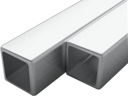 vidaXL Fyrkantsrör rostfritt stål 2 st V2A 1m 25mm