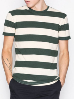 Selected Homme Shhpenn Ss O-Neck Tee T-shirts & linnen Mörk Grön