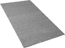 Mustavalkoinen matto sisä- ja ulkokäyttöön 80 x 150 cm IMIRCIK