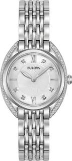 Bulova Diamond rostfritt stål damerna titta Silver 30mm