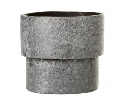 Bloomingville - Krukke i stentøj - Grå - 14 cm.