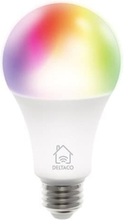 Deltaco Smart Home WiFi Rgb Led-lampa, E27 9W 810lm