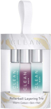 CLEAN - Rollerball Layering trio Sæt - 3x5 ml - Warm Cotton - Skin - Rain